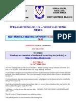 Wes-Gauteng-nuusbrief 2010-10