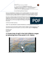 """A 14-year-long oil spill ... one of the worst in U.S. history! It's time to say """"NO MORE!"""""""