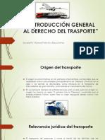 Introducción General Al Derecho Del Trasporte