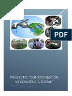 Proyecto Ambiental Contaminacion vs Conciencia Social
