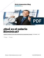 ¿Qué Es El Salario Dominical - Bolivia Impuestos Blog-1