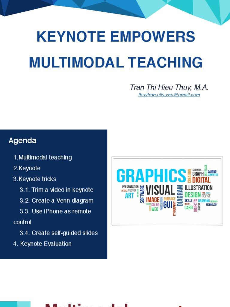 Using Keynote to Empower Multimodal Teaching   I Work