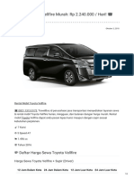 Rental & Sewa Toyota Vellfire Harian Murah ☎ 0821 1313 0173 TravelBos.id