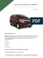 Rental & Sewa Daihatsu Xenia Harian Murah ☎ 0821 1313 0173 TravelBos.id