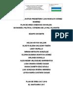 Plan de Área c. Sociales y Cátedra de Paz