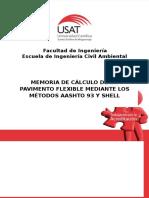 349169107 Memoria de Calculo Pavimento Flexible AASHTO 93 y Shell Informe Tecnico