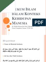 2. Hukum Islam Dalam Konteks Kehidupan Manusia