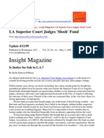 99-04-11 Washington DC Insight Magazine - LA Superior Court Judges 'Slush' Fund - Is Justice for Sale in L.A.?