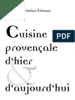 Cuisine Provencale d'Hier Et d'Aujourd'Hui (Etienne)