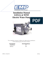 WP29 Water Pump Manual E2512A