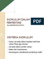 Inokulum Dalam Proses Fermentasi