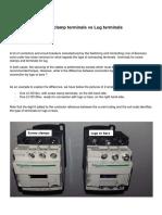 FAxxxx Screw Clamp Terminals vs Lug Terminals