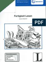 Gerard Westhoff_Fertigkeit Lesen