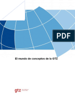 Monitoreo GTZ El Mundo de Conceptos GTZ 2006