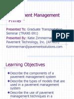 A Pavement Management Primer