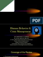 Human Behavior and Crisis Mgt Corpuz