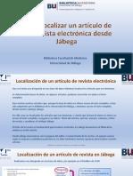 Cómo localizar un artículo de una revista electrónica desde Jábega 2017.pdf