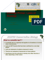Laws of Ecology