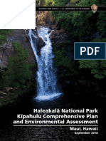 Proposed plan for Haleakala National Park Kipahulu District