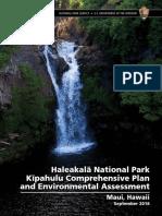 Proposed plan for Haleakala National Park Kipahulu District