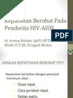 Kepatuhan Berobat Penderita HIV-AIDS