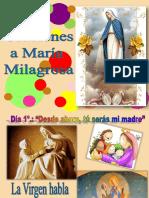 Oraciones a Mª Milagrosa . EP, ESO(Del 21 a 27 Nov.)