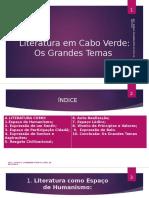 Literatura Em Cabo Verde - Os Grandes Temas