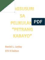 Pagsusuri Sa Petrang Kabayo