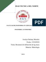 Morales Joselyn- Resumen de Kilograma-Metrologia