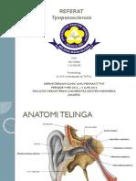 PPT Timpanosklerosis Referat THT - Sita