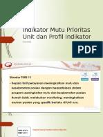 3. Indikator Prioritas Unit Dan Profil Indikator