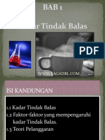 Bab 1 Kadar Tindak Balas