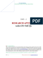 Research Aptitude with 650+ MCQs