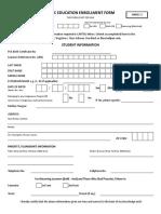Basic Enrolment Form - Annex 2 DepEd Order 3 s2018