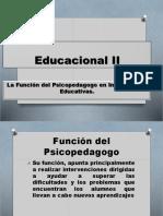 La Función del Psicopedagogo en Instituciones Educativas.
