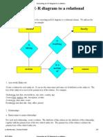 Converting an E-R Diagram to a Relational Schema