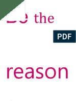 Be the reason.docx