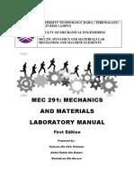 MEC291 mechanics and materials laboratory manual