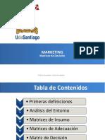 Marketing, Matrices de Decisión