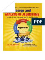 Design and Analysis of Algorithms for R-2017 by Krishna Sankar P., Shangaranarayanee N.P.