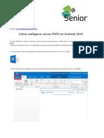 Tutorial Para Configurar Correo POP3 en Outlook 2016