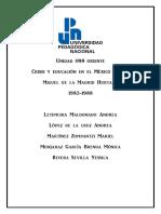 Economía y Educacion Miguel de La Madrid