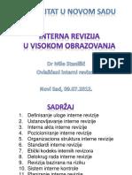 Interna Revizija u Visokom Obrazovanja