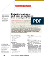 Diabetic Foot Ulcer and Poor Compliance How Would You Treat