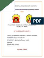 Informe de Campo Yacimiento de Kinerales
