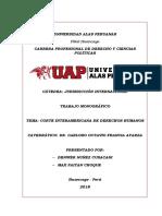 Monografía. Tribunal Interamericano de DDHH