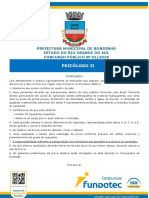 2018 - Rondinha - Prova