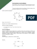 Cálculo Do Perímetro e Área de Polígonos