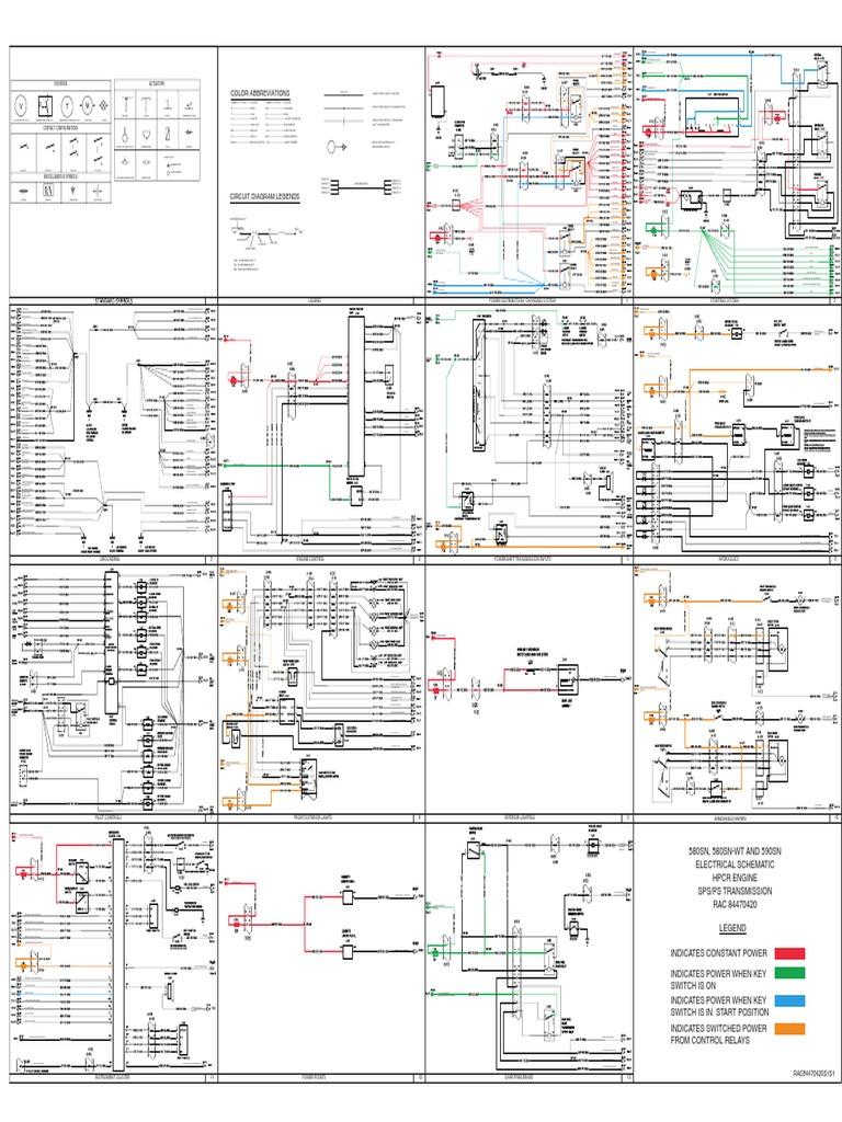 Case 580n Backhoe Service Manual Diagram Electric Switch