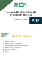 0.TALLER Aproximación Etnográfica en La Investigación EducativaJJJJJJHOY (1)
